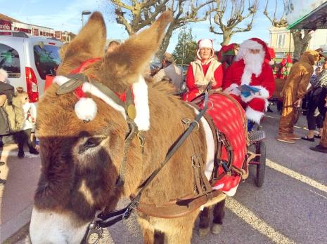 Le Père Noël et son âne