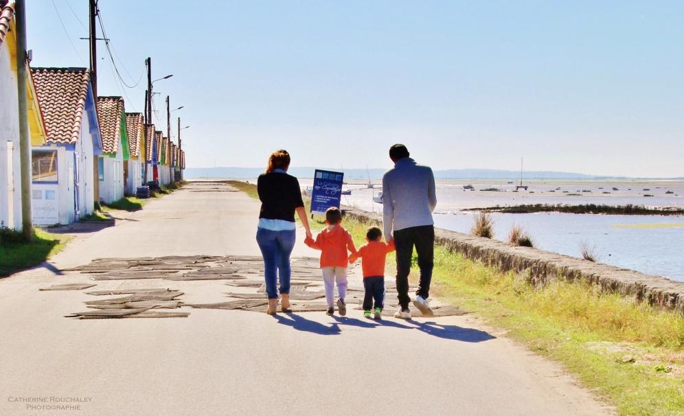 Balade en famille sur le port